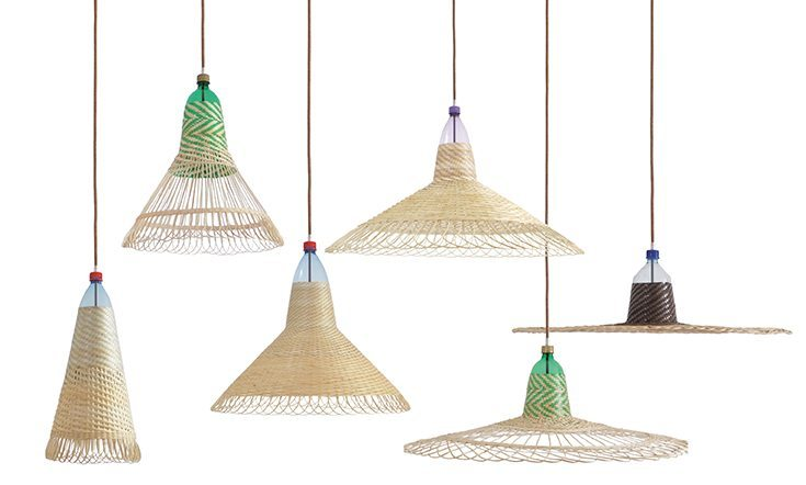 pet lamp conjunto de lamparas hechas de botellas de plástico