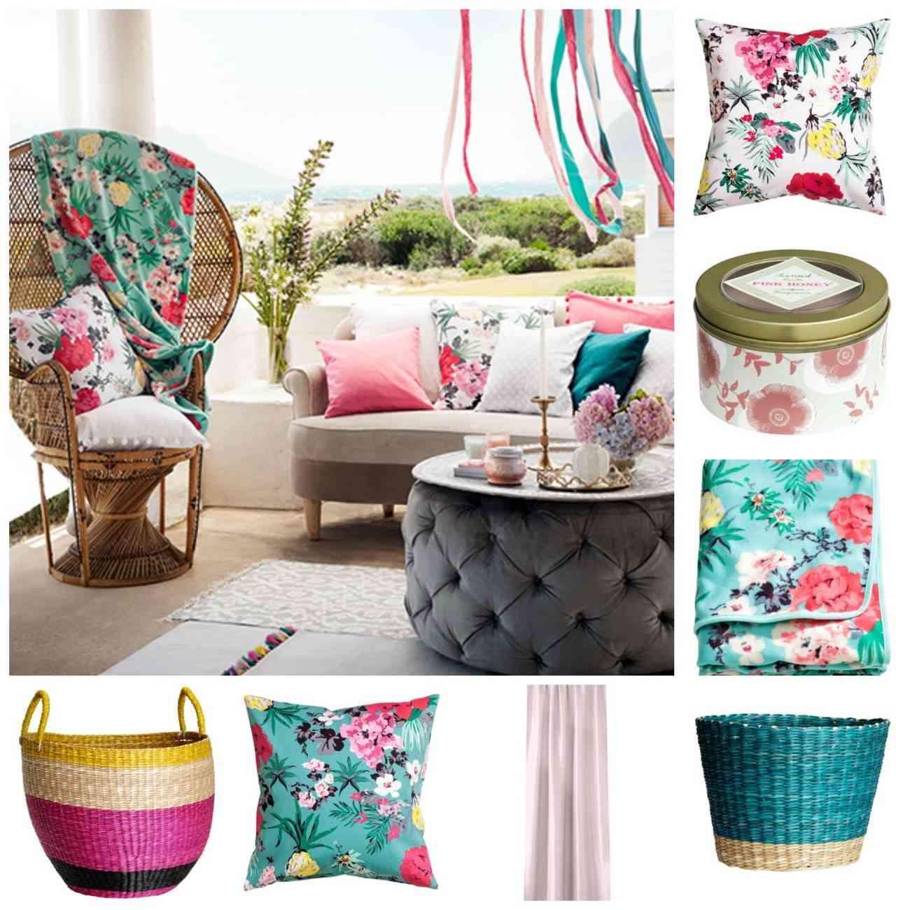 Decoración textiles florales y muy primaverales