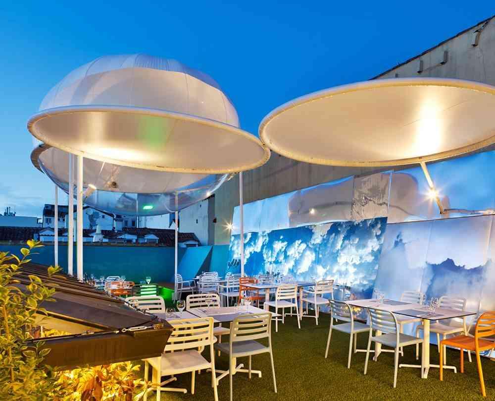 terrazas de verano - restaurante the azotea vista general