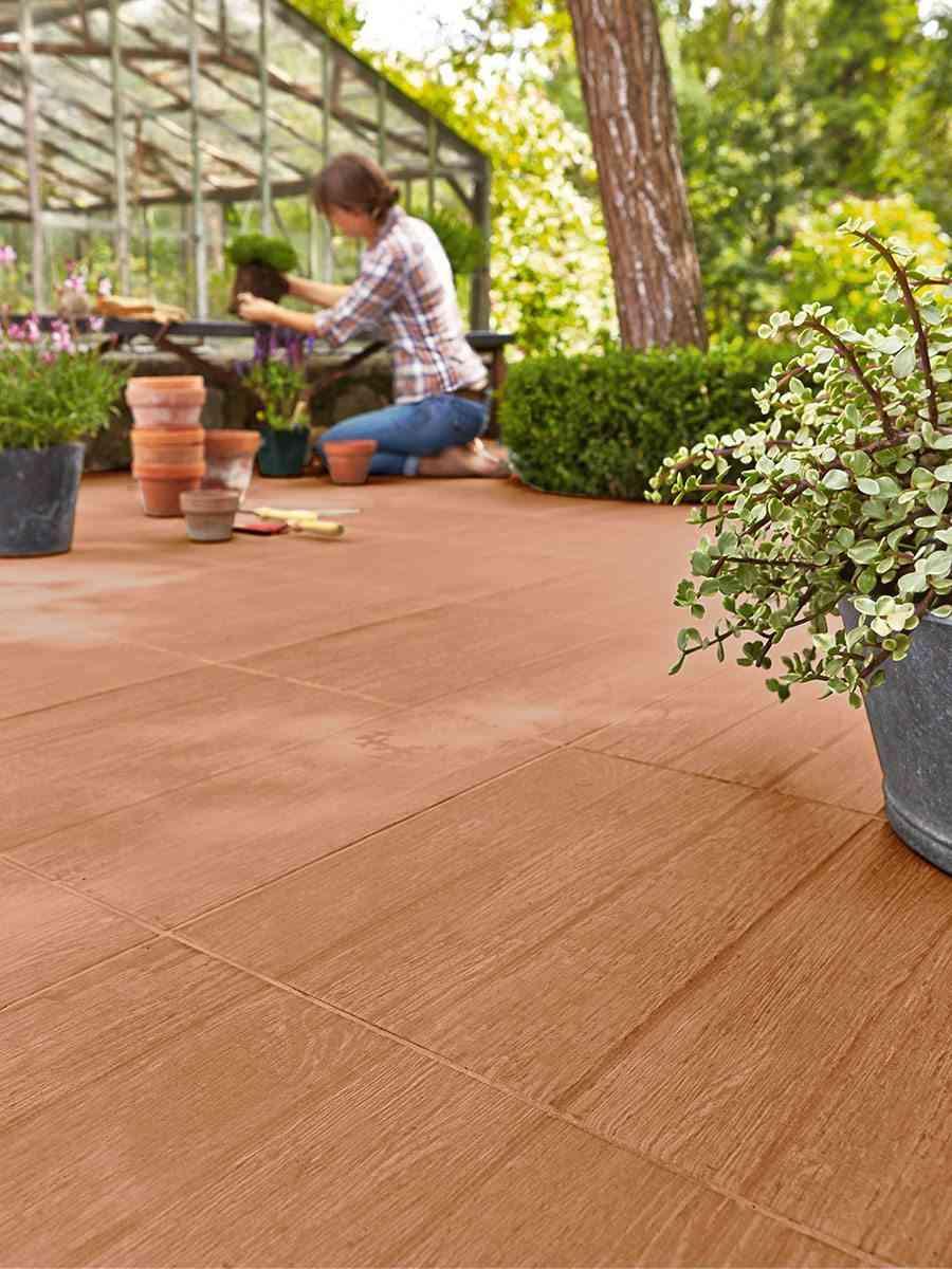 6 suelos de exterior para renovar la terraza - Ceramica leroy merlin ...