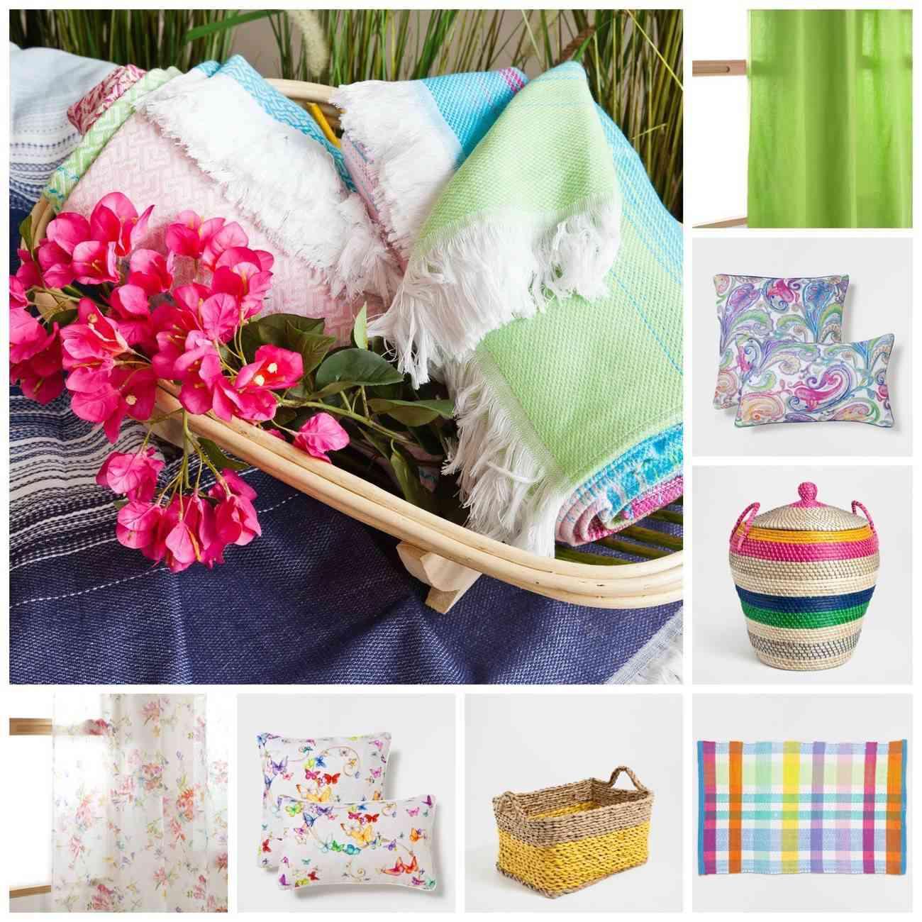 Decoración textiles florales y muy primaverales con Zara Home