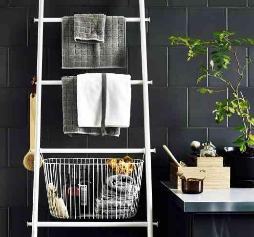 almacenamiento para organizar el baño