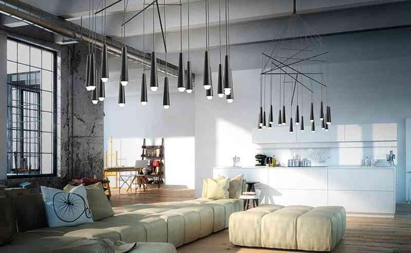 decoracion de salones modernos ambiente industrial mikado