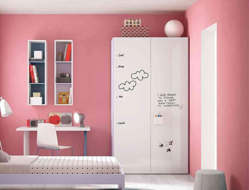 aprovechar el espacio armario blanco juvenil go modern