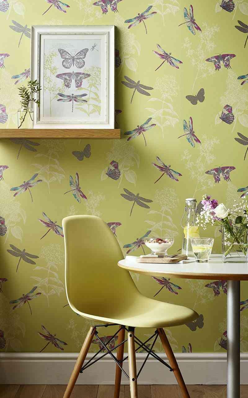 empapelar las paredes Arthouse papel libelulas