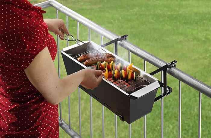 cocinar al aire libre barbacoa de balcon