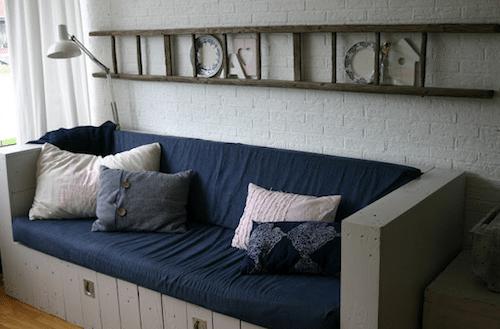 Escalera decorativa para el salón