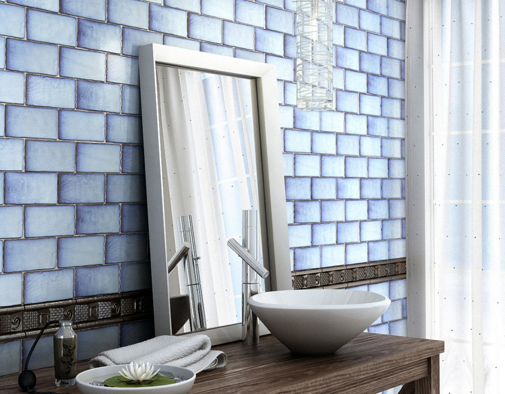 como decorar con azulejos en azul y blanco Cevica Serie ANTIC SPECIAL