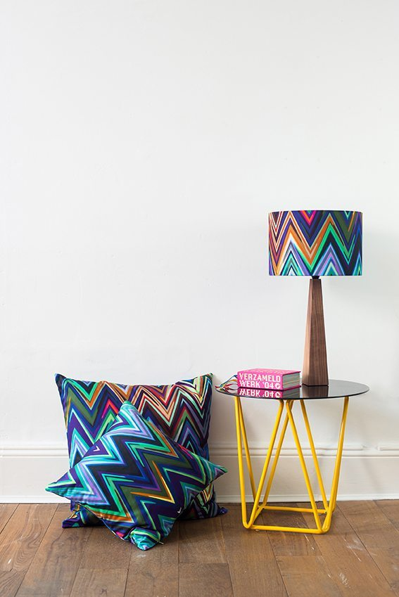 decorar con cojines chevron