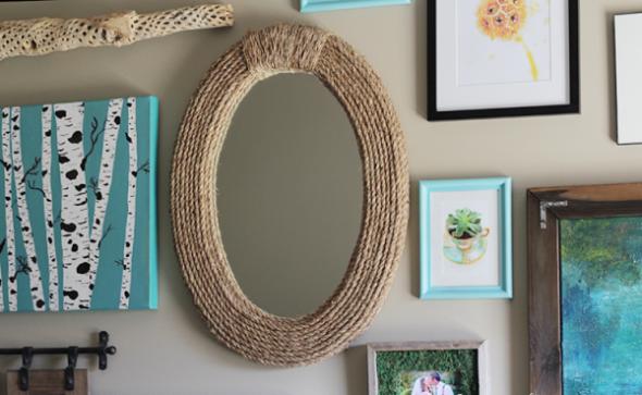 Como decorar un espejo sin marco escaleras decoradas for Como colgar un espejo sin marco