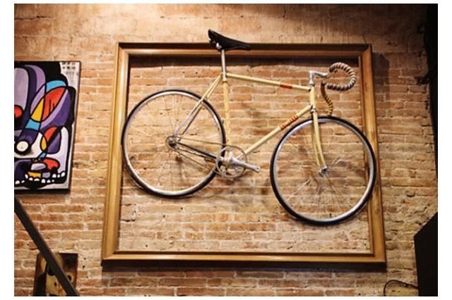 estilo hipster decoración con bicicleta
