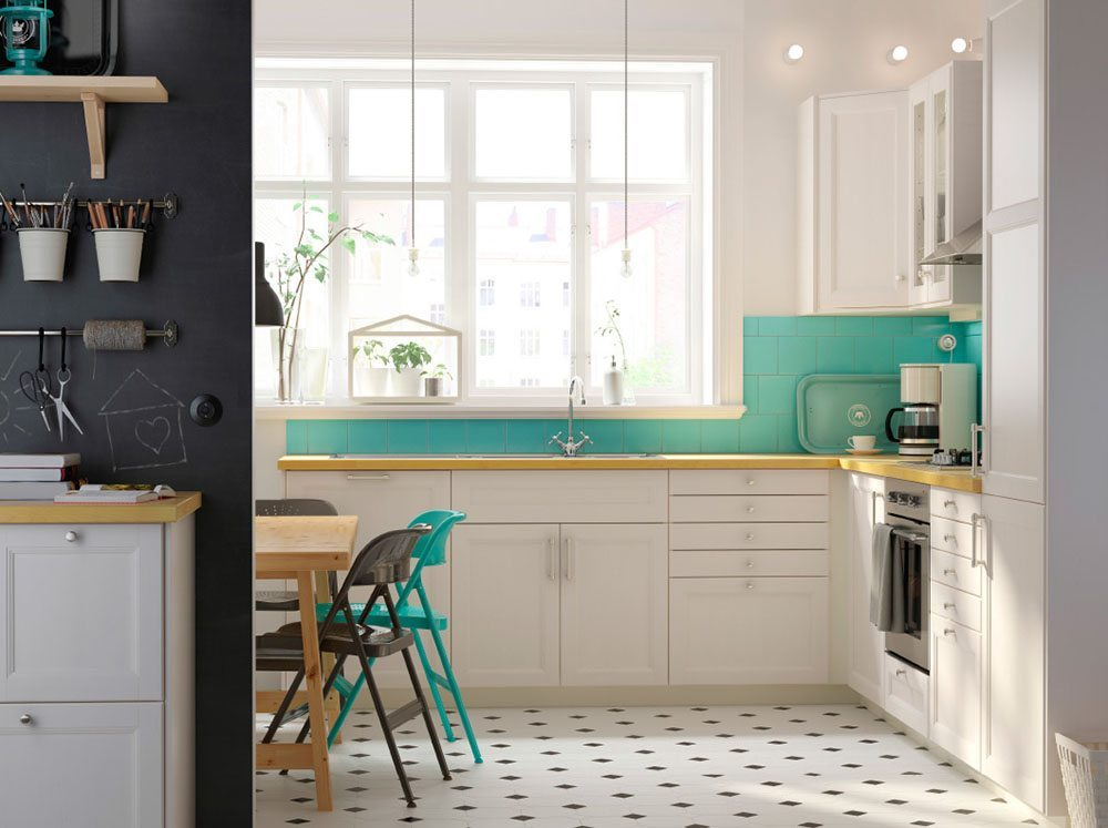 renovar tu cocina ikea cocina azulejos verdes