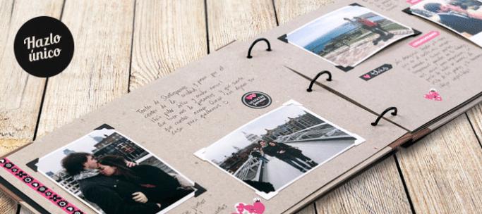 álbum de scrapbooking personalizado con inkee
