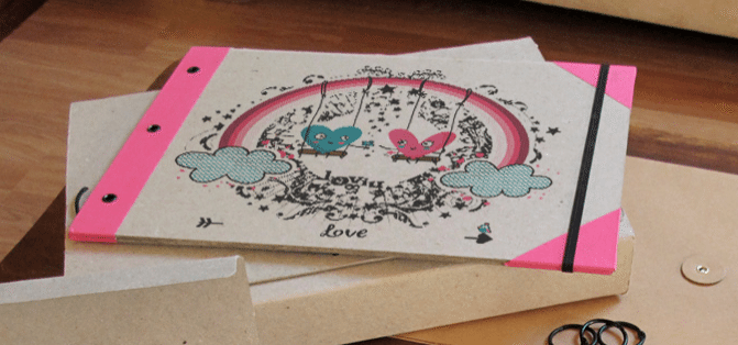 álbum de scrapbooking - inkee con portada personalizada