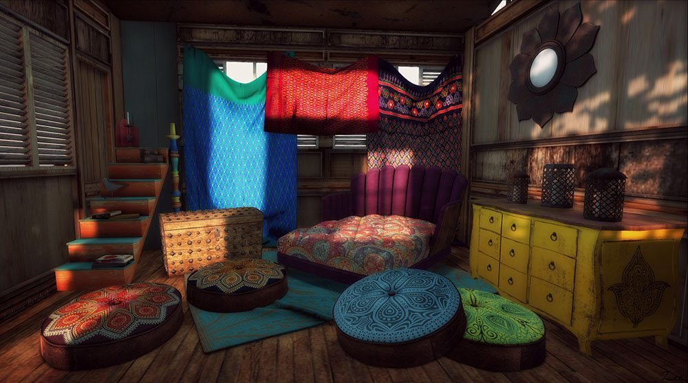boho deco chic interior boho cojines color
