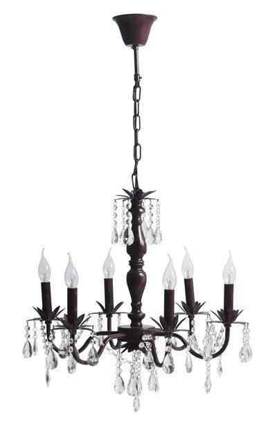lámpara chandelier vintage berenjena