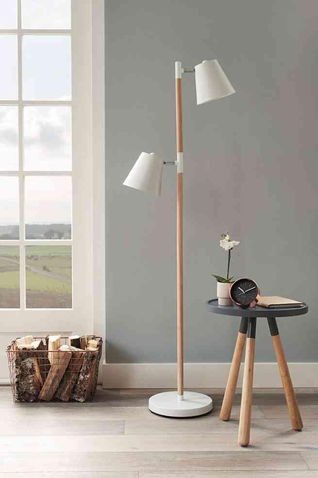 Elige las l mparas de madera m s decorativas - Lamparas decorativas de pie ...