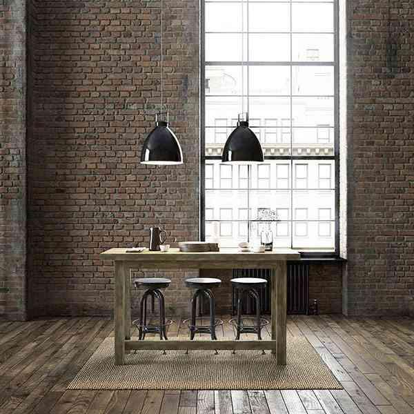 decoracion de salones modernos mesa de comedor industrial