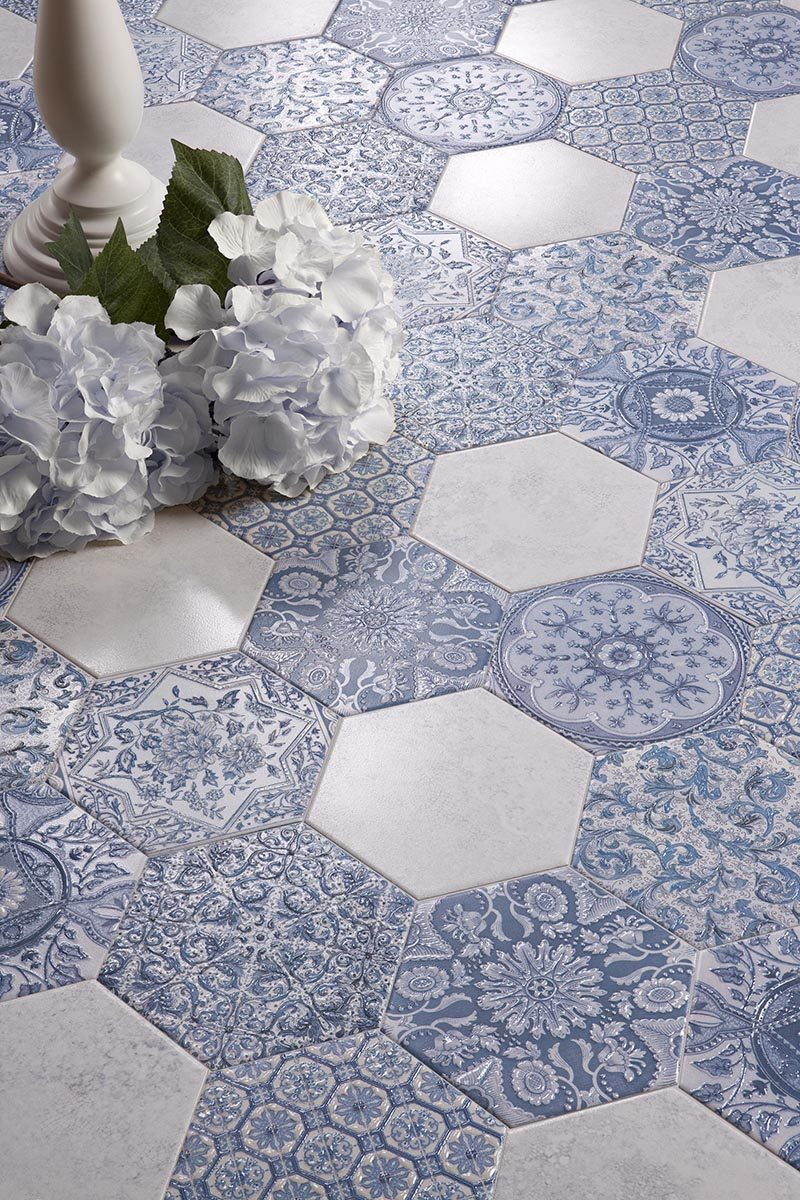 how to decorate with tiles in blue and white pergada series argila