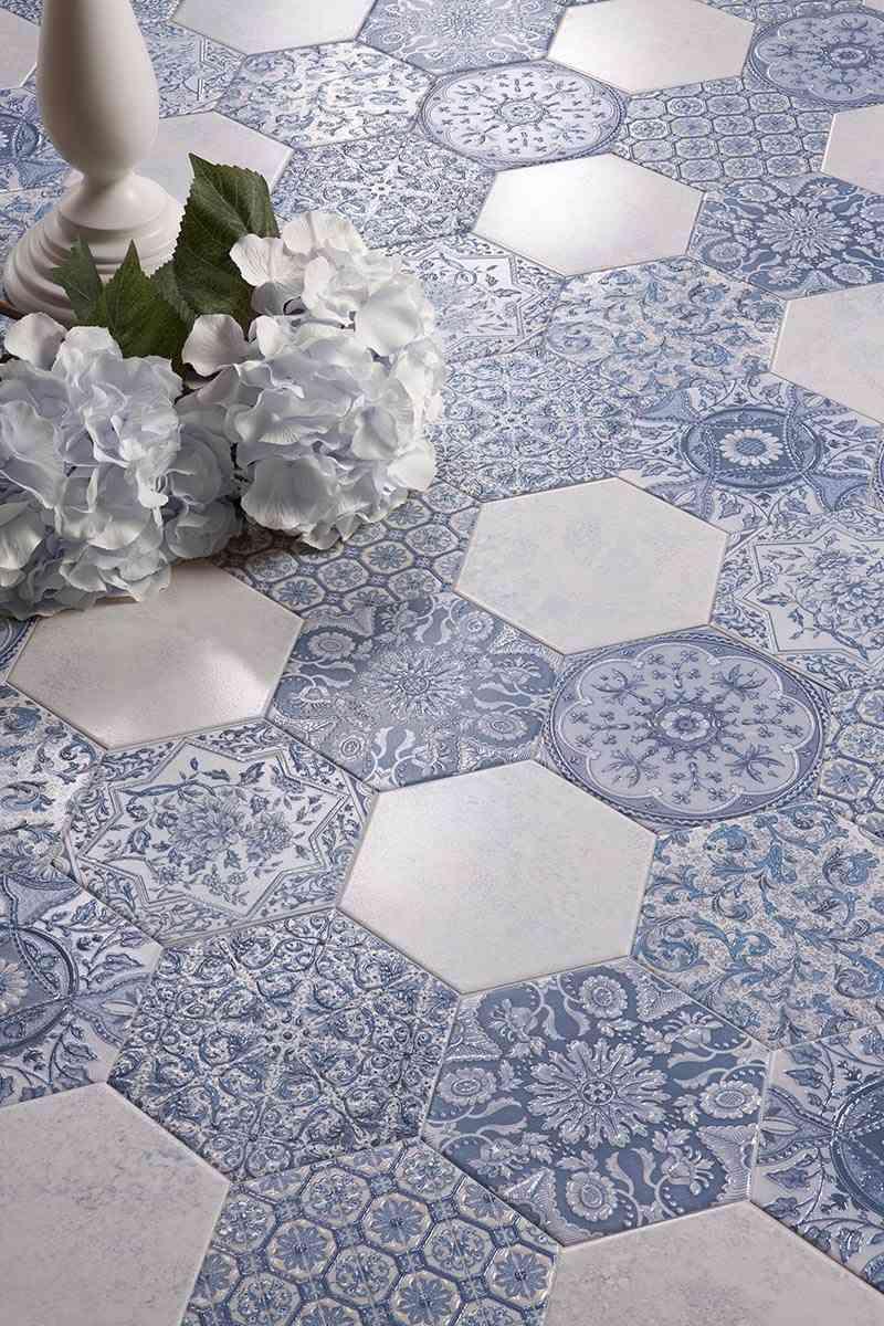 como decorar con azulejos en azul y blanco peronda serie argila