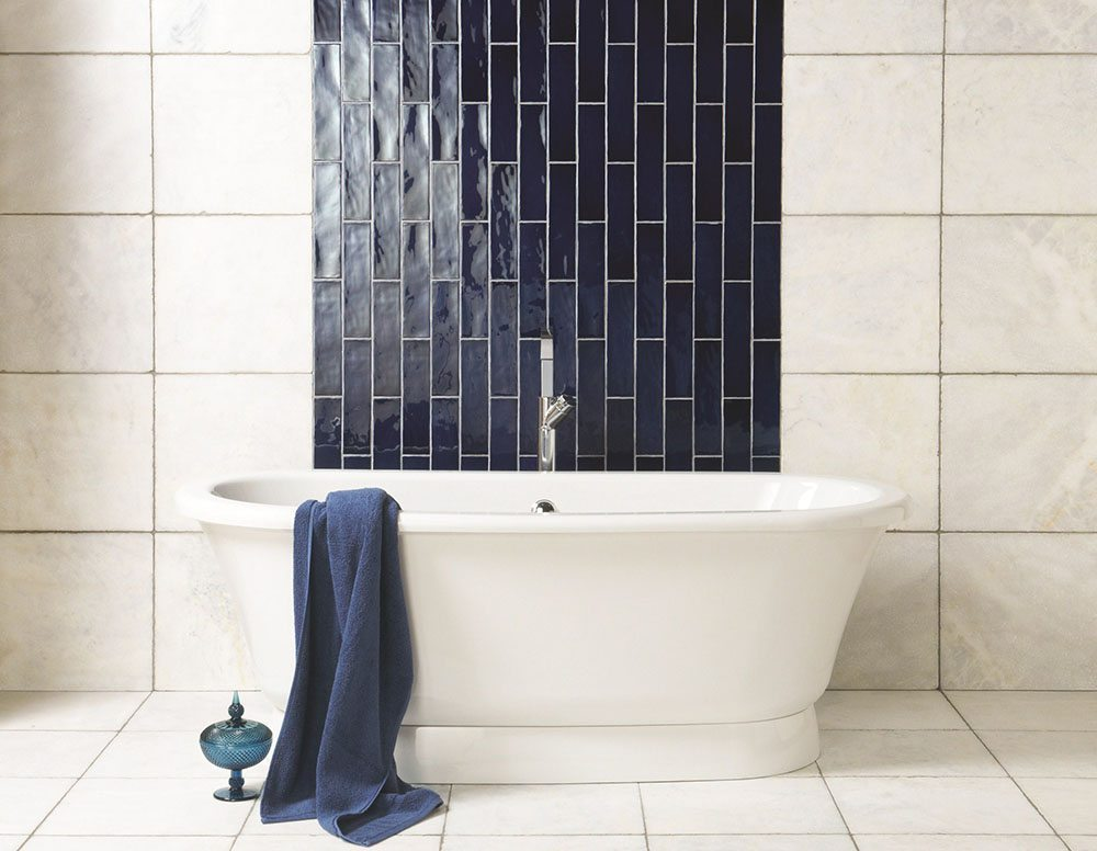 how to decorate with blue and white tiles The Winchester Tile Company banera