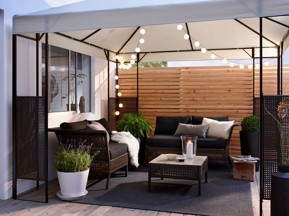 toldo de la terraza pergola Ikea