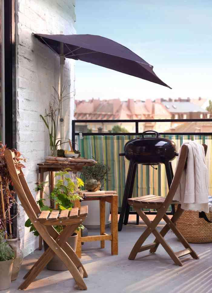 toldo de la terraza sombrilla de pared Ikea