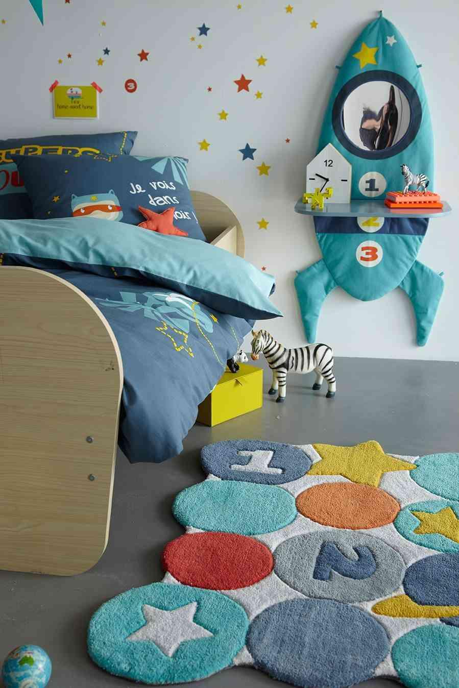 nueva colección de textiles vertbaudet cama cohete