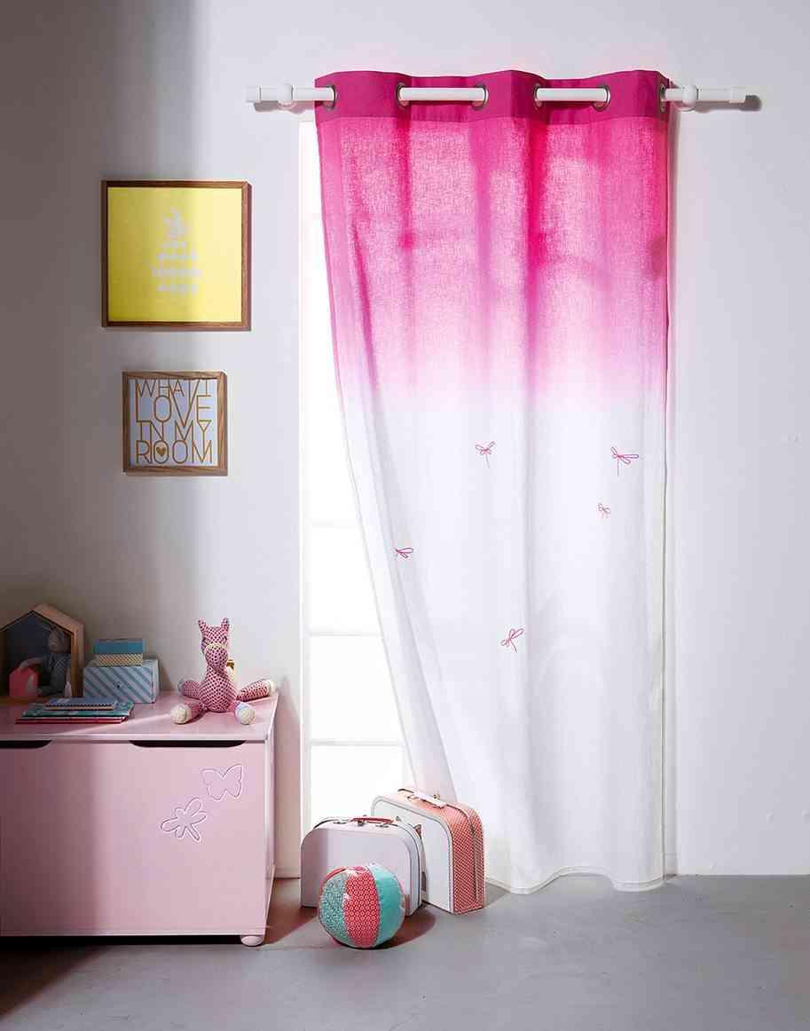 nueva colección de textiles vertbaudet cortina rosa