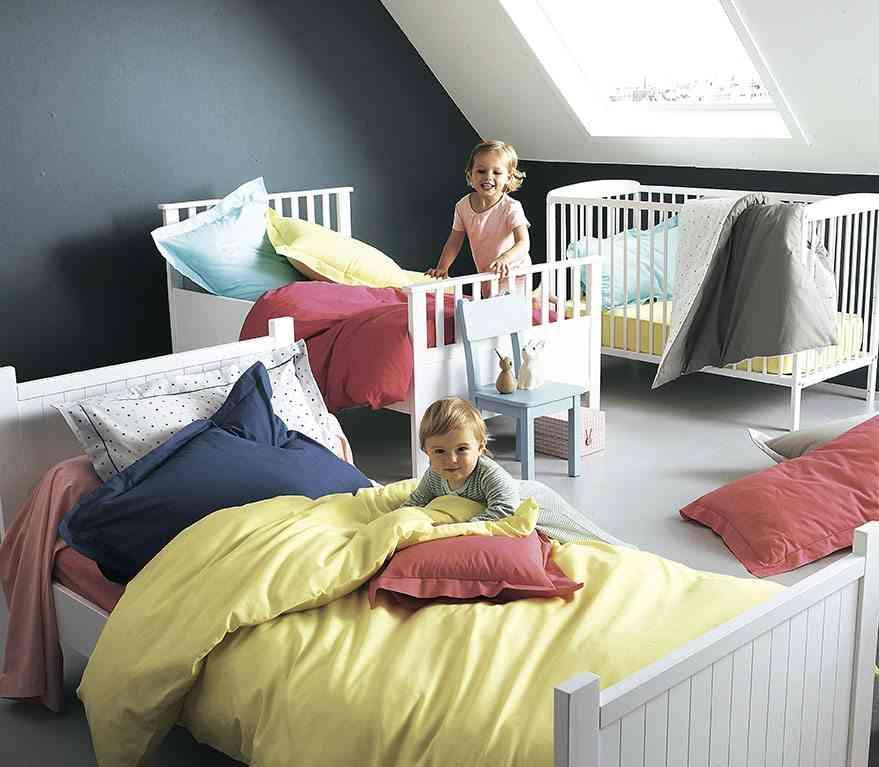 nueva colección de textiles vertbaudet habitacion para tres
