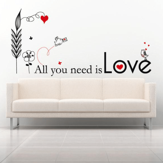 Vinilo decorativo - all you need is love