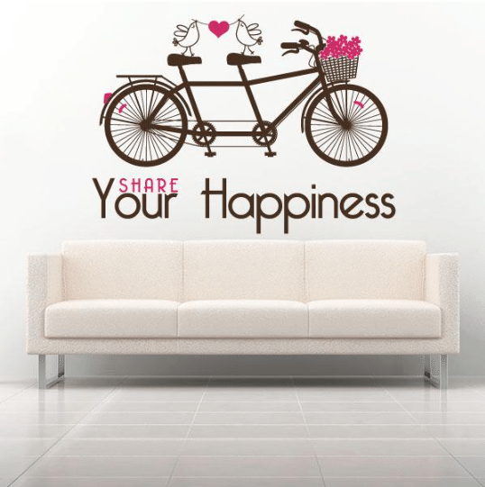 Vinilo decorativo - comparte tu felicidad