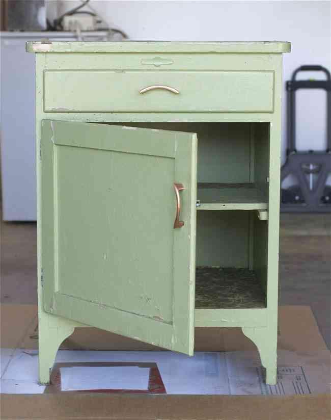 recicla tu mismo un armario antes armario verde