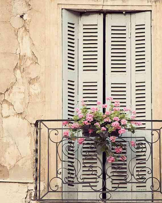balcón sencillo vintage