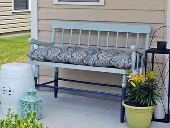 pintar muebles banco gris