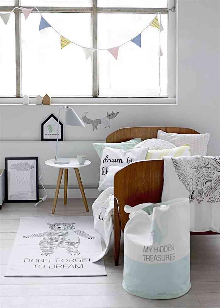 decoracion de estilo escandinavo bloomingville dormitorio