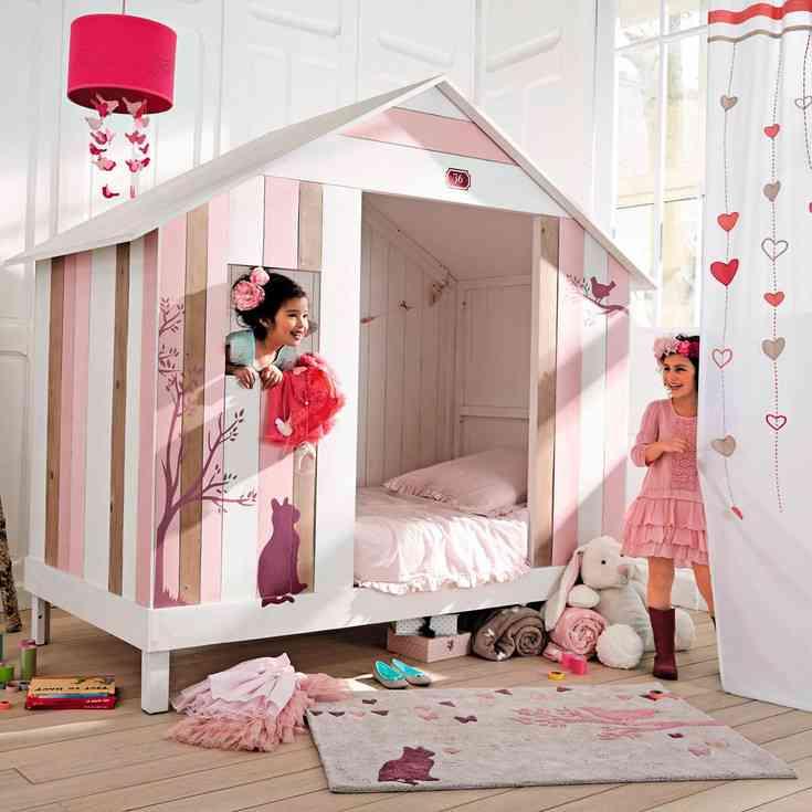 muebles infantiles de diseo cama caseta rosa maisons with muebles infantiles diseo