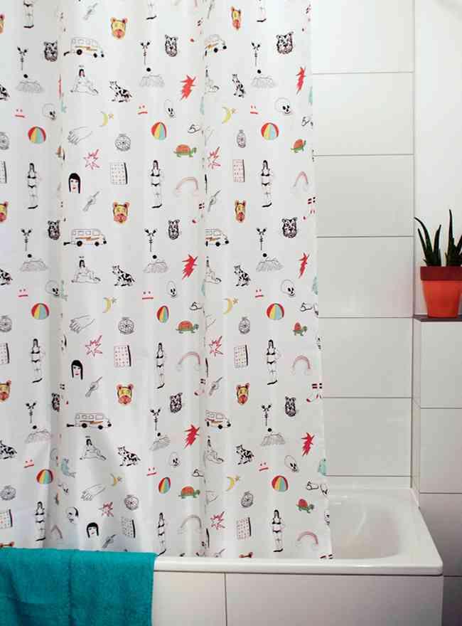 cortinas de baño originales con iconos