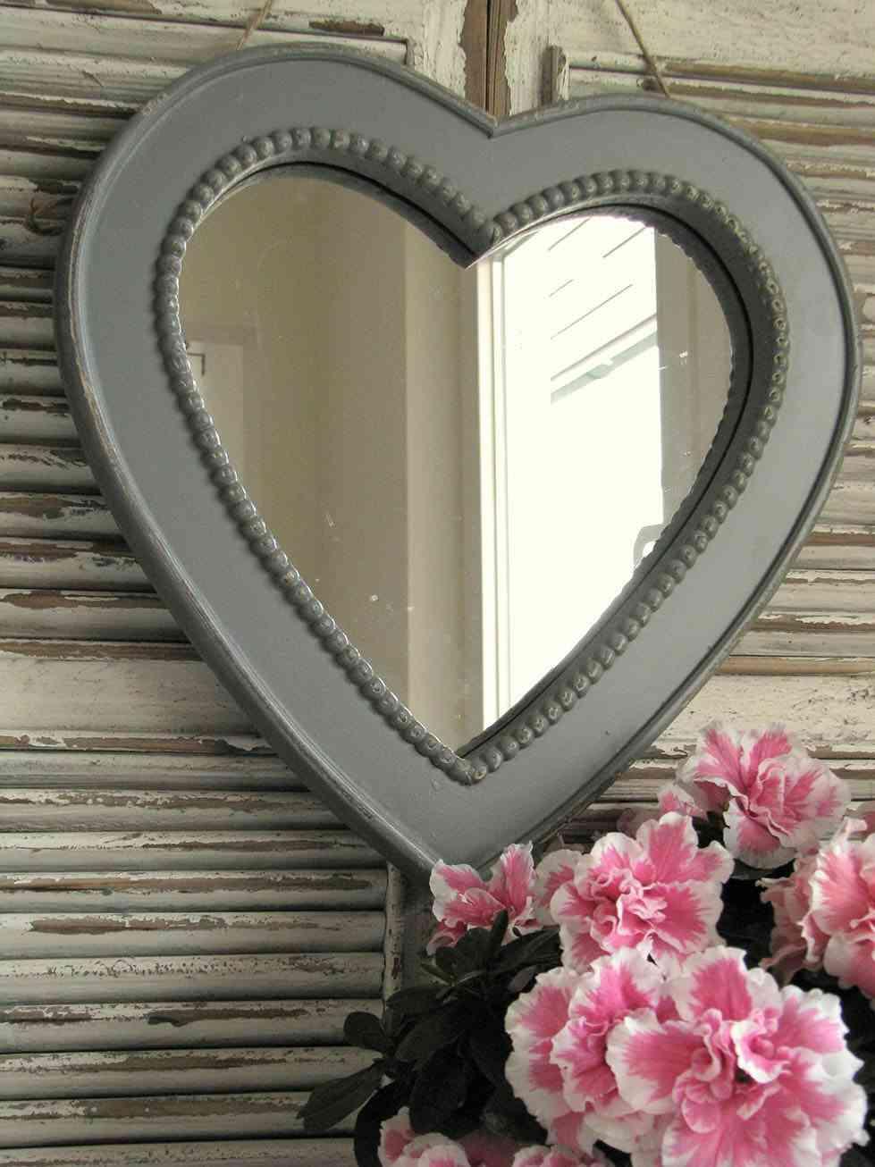 espejos decorativos corazon