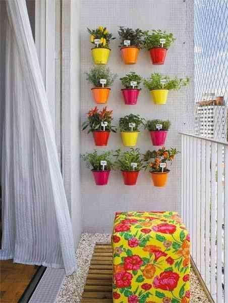 decorar balcón con flores