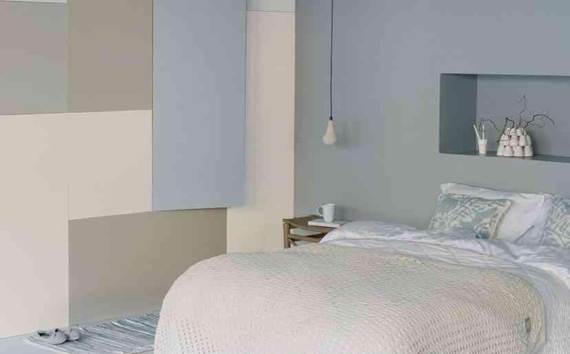 piso pequeno dormitorio azul jotun