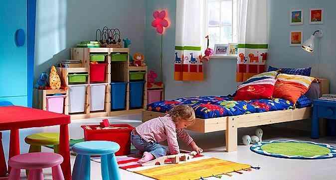 alfombras en habitación infantil a todo color