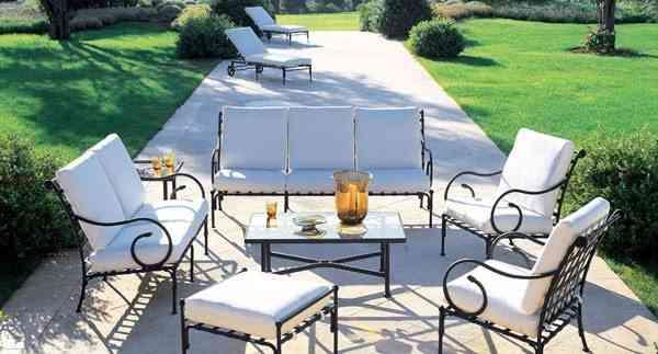 muebles de jardin hierro teklassic