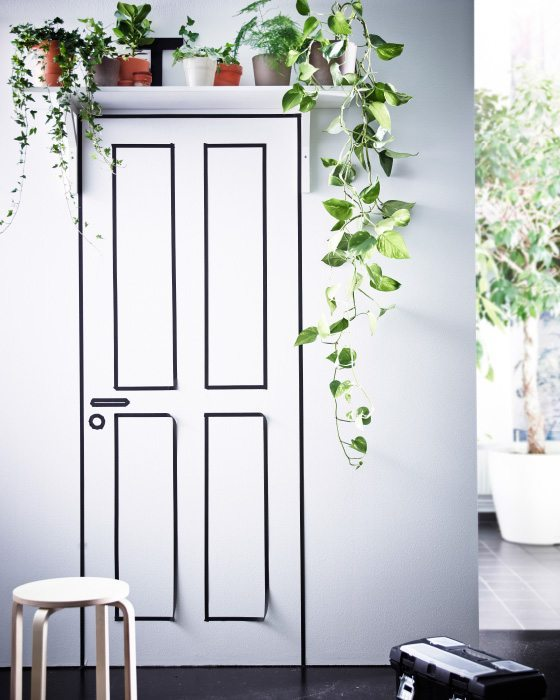 decorar con plantas ikea entrada