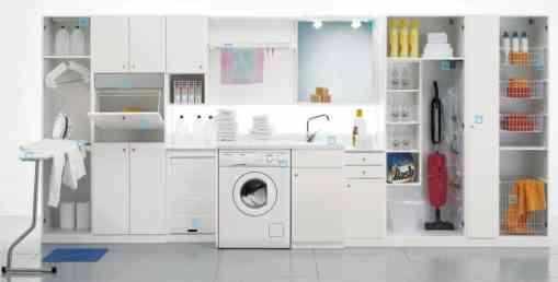 20 im genes de decoraci n para inspirar tu cuarto de lavado for Lavaderos modernos para ropa
