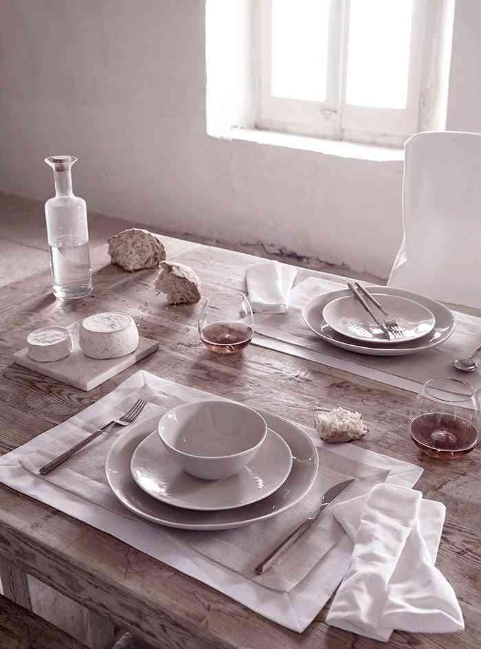 interiores de casas rusticas mesa puesta zara home