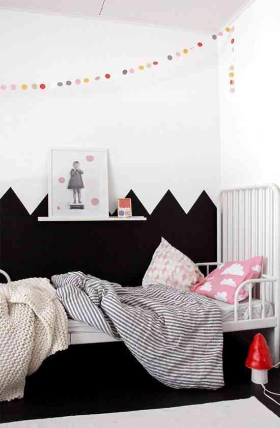 pintar dormitorio en zig zag