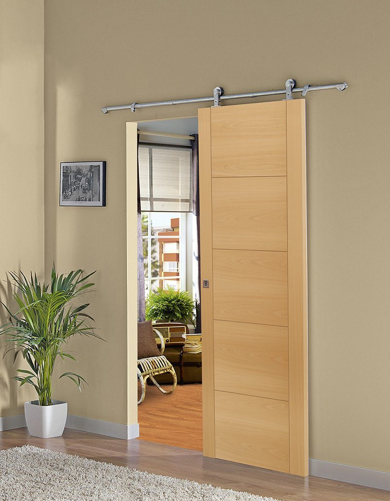 Cambia tus puertas interiores por correderas y gana espacio - Como colocar puertas correderas ...