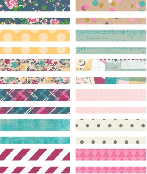 washi tape para decorar sobres