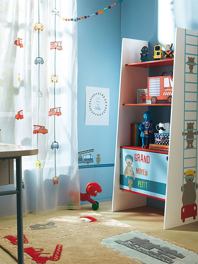 cortinas infantiles coches vertbaudet